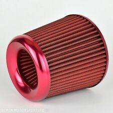 "Rendimiento 3"" Filtro De Aire Rojo Ideal Para AUDI S2 S3 A3 S4 TT A1 S1 A4 A6 (38322)"
