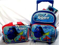 """Disney Finding Dory 12"""" Rolling Backpack & Matching Dory Lunchbox Lunch Bag-New"""