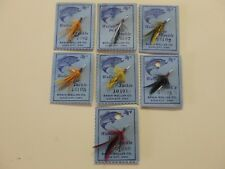 Erwin Weller Rare Fishing Flies 7 pcs!  Weller Deluxe Tackle Iowa