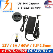 12V 5A AC DC Power Supply 5 Amp 12 Volt Adapter Charger LCD Screen 5.5mm * 2.5mm