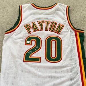 Gary Payton Signed Seattle Supersonics NBA Jersey Beckett COA