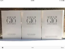 Giorgio Armani ACQUA di GIO Pour Homme Eau de Toilette Spray Samples X 3