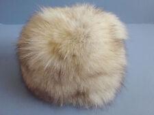 "Vintage SAKS FIFTH AVENUE Fox Fur Bubble Hat Fits 20"" to 21"" Cute!"