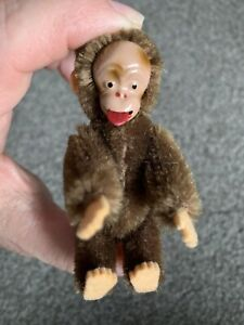 RARE Pristine Antique Conical Schuco Mohair Blecky Monkey  Tongue Pops Out CUTE