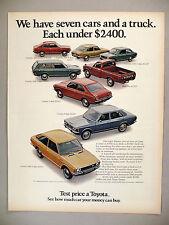 Toyota PRINT AD - 1972 ~ Corona, Corolla, Carina