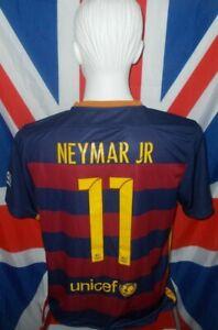 Official F.C Barcelona Spain Home Shirt 2015-2016 Neymar Jr #11 (L)