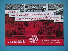 """Rot-Weiss Essen, """"Liebe FCK-Fans, wenn Ihr wissen wollt....""""  -Spruchkarte-"""