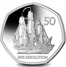 NEW South Sandwich South Georgia 2020 Fifty Pence 50p Coin HMS RESOLUTION
