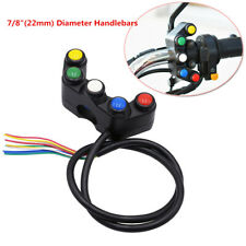 15A 5 Button Motorcycle Handlebar Horn Turn Signal Lights Switch Waterproof 22mm
