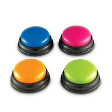4 Colors/set Recordable Talking Button With Led Function Learning Resources Test