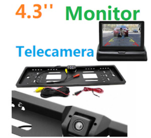 "MONITOR 4.3""+ PORTA TARGA KIT TELECAMERA RETROMARCIA AUTO RETROCAMERA CAMERA"