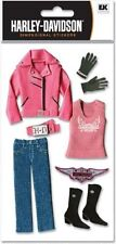 Harley Davidson *PINK CLOTHING* 3D Stickers motorcycle rider jacket belt boots