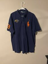 New listing Polo Ralph Lauren Rugby Polo Shirt sz XXL Navy Blue Big Red Pony Yacht Club
