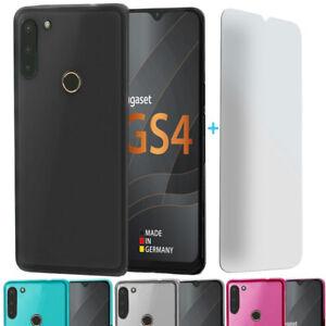 Für Gigaset GS4 Hülle Case Cover Bumper Tasche Schale und Displayglas