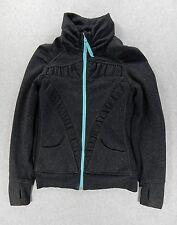 Ivivva By LuLuLemon Cotton/Poly Training Jacket (Girls Size 14) Dark Grey