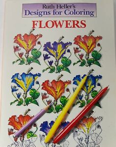 Designs for Coloring: Flowers by Heller, Ruth in Used - Good