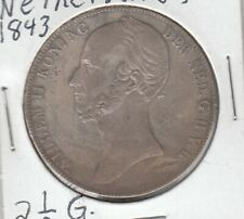 Netherlands 1843 2½ Gulden Silver Coin