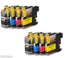 Brother 2 ensembles de 4 LC123 Cartouches d'encre Compatibles pour MFC J4610DW J470DW j4920d