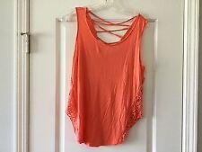 E M Orange Sexy Top Blouse Size Small