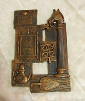 Syroco Vintage Copper Art Resin Wall Hanging Plaque 1974 Coach Inn Door Sign