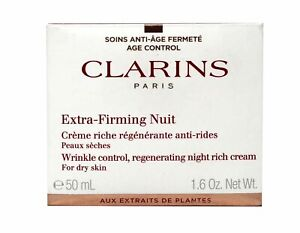 Clarins extra-Firming Nuit Wrinkle Cream For Dry Skin 1.6 Ounces