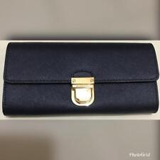 Authentic Michael Kors 35F7GBDE2L Bridgette Flap Women's Wallet Navy