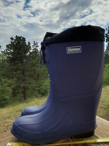 LaCrosse Womens Rain Snow Boots Purple Black Size 9