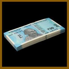 India 50 Rupees x 100 Pcs Bundle, 2018 P-111 New Design Gandhi Unc