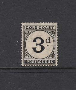 GOLD COAST, POSTAGE DUES: 1923 Yellowish Toned Paper Issues 3d SG D4 £22, MVLH