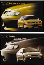Two 2001 HOLDEN VX SERIES II COMMODORE & CALAIS Prestige Brochures