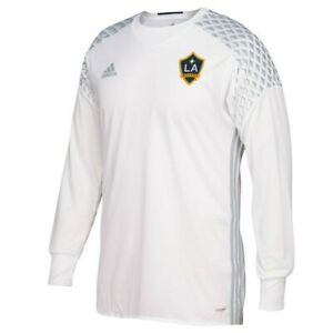 LA Galaxy MLS Adidas Men's White 2016 Authentic Long Sleeve GoalKeeper Jersey