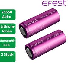 2 x Efest IMR 26650 Lithium Ionen Akku 42A 5000mAh lose 3,7 V