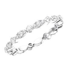 2mm Bar Set Round Brilliant Cut Diamanten Voll Eternity Ring in Platin