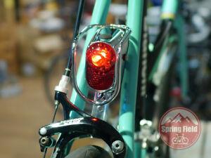 Vintage Bicycle Tail Light / Retro Rear Lamp / Classic LED Back Light Metal