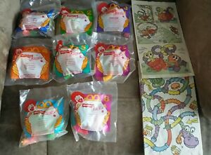 McDonald's 1996 Nickelodeon TANGLE Happy Meal Toys - Complete Set of 8 + 4 Bags