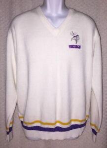 Vintage Minnesota Vikings V-Neck Sweater Size Adult Medium by Starter