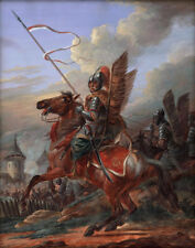 """perfect 24x36 oil painting handpainted on canvas"""" hussar""""@10753"""