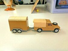 "Corgi Toys Gift set 2 Land-Rover with ""Rices"" Pony trailer"