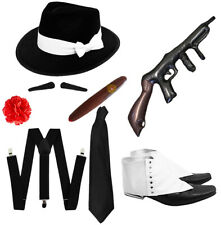 1920S GANGSTER FANCY DRESS MENS COSTUME SET AL CAPONE MAFIA GODFATHER OUTFIT