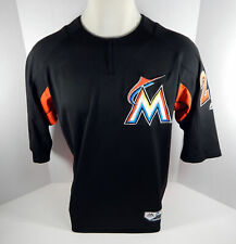 2018 Miami Marlins #29 Game Issued Black Batting Practice Jersey