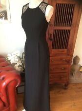 Whistles Black Evening Maxi/long Dress Lace Panel UK 6