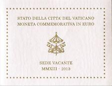 Vatican vatican 2 euro 2013 pièce commémorative sede vacante sede vacante BLISTER