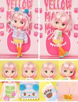 """Takara Tomy Japan CWC Shop Limited 8"""" Middie Blythe Doll Yellow Marshmallow"""