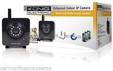 Konig Enhanced Indoor IP Camera In Black  SEC-IPCAM100B