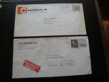 BELGIQUE - 2 enveloppes  (cy29) belgium