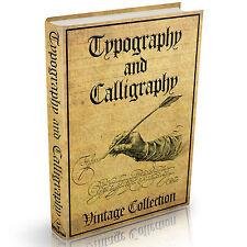 Kalligraphie Kalligraphie und Typographie Bücher - MASSIVE 190 Oldtimer Bücher auf DVD