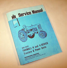 FARMALL H HV TRACTOR SERVICE MANUAL REPAIR INTERNATIONAL IH McCORMICK QUICK SHIP