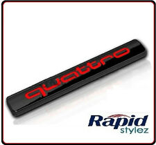 AUDI Quattro Black Red Badge Emblem A3 A4 S3 S4 S5 S6 RS4 RS5 RS6 TT Q3 Q5 Q7 20