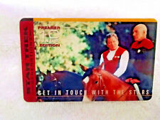 1994 Star Trek Generations Phone Card - Premier 10-Get in touch with the Stars