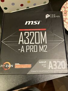 Amd Motherboard A320m-a Pro M2 Micro Atx Used Perfect Condition